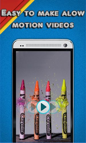Les captures d'écran du programme Slow motion video pour le portable ou la tablette Android.