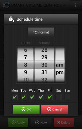Screenshots of Smart volume control+ program for Android phone or tablet.
