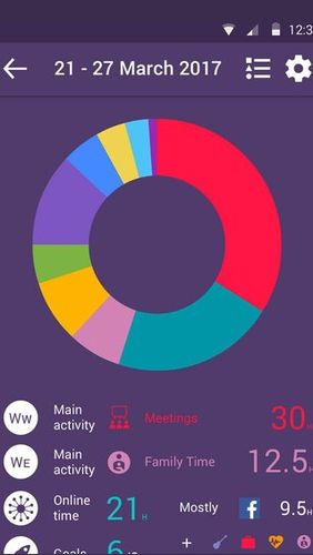 Screenshots of Smarter time - Time management program for Android phone or tablet.