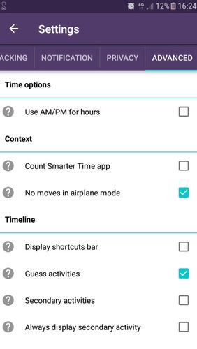 Les captures d'écran du programme Smarter time - Time management pour le portable ou la tablette Android.