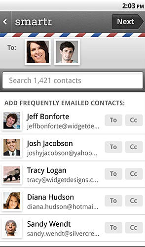 Download Smartr contacts for Android for free. Apps for phones and tablets.