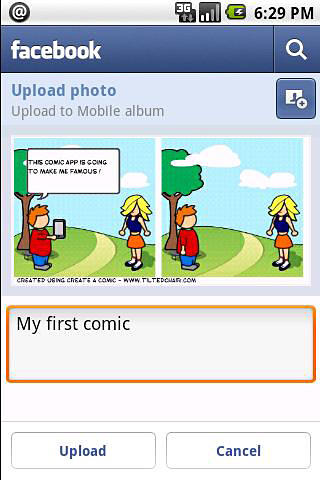 Les captures d'écran du programme Comic and meme creator pour le portable ou la tablette Android.