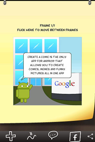 Screenshots of Comic and meme creator program for Android phone or tablet.