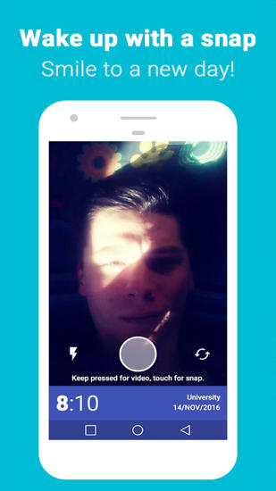 Download Snap Me Up: Selfie Alarm Clock for Android for free. Apps for phones and tablets.