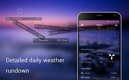 Solo weather app for Android, download programs for phones and tablets for free.