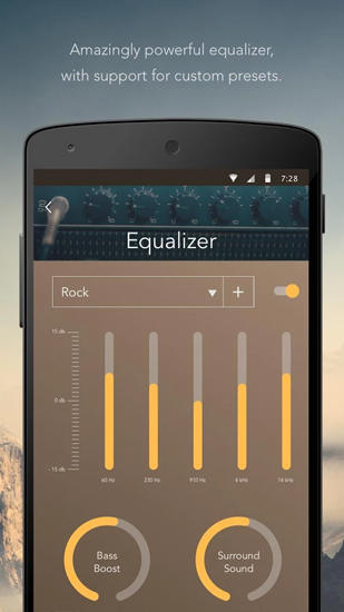 Screenshots des Programms Solo Music: Player Pro für Android-Smartphones oder Tablets.