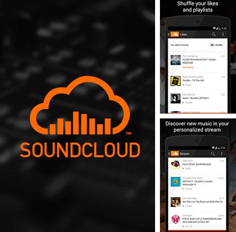 Besides Sense v2 flip clock and weather Android program you can download SoundCloud - Music and Audio for Android phone or tablet for free.