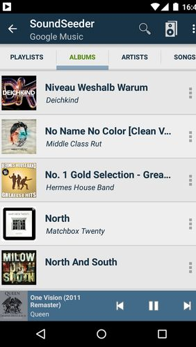 Screenshots of Musicsense: Music Streaming program for Android phone or tablet.