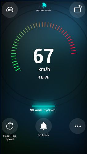Capturas de tela do programa Speedometer em celular ou tablete Android.