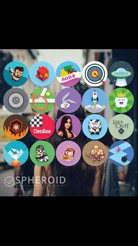 Les captures d'écran du programme Spheroid icon pour le portable ou la tablette Android.