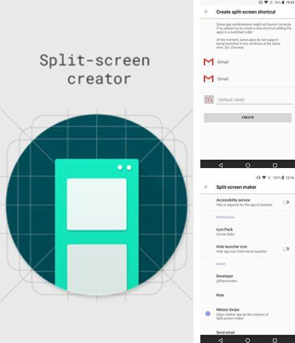 Besides Clock - The vault: Secret photo video locker Android program you can download Split-screen creator for Android phone or tablet for free.