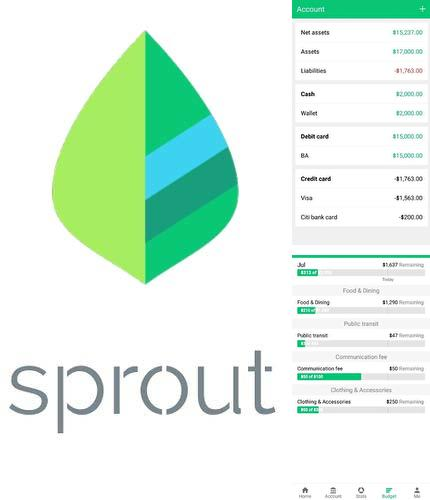 Outre le programme Pocket cloud pour Android vous pouvez gratuitement télécharger Sprouts: Money manager, expense and budget sur le portable ou la tablette Android.