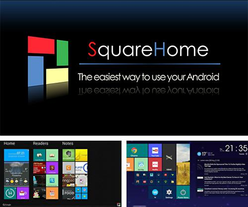 Besides Calendar widget Android program you can download Square home for Android phone or tablet for free.