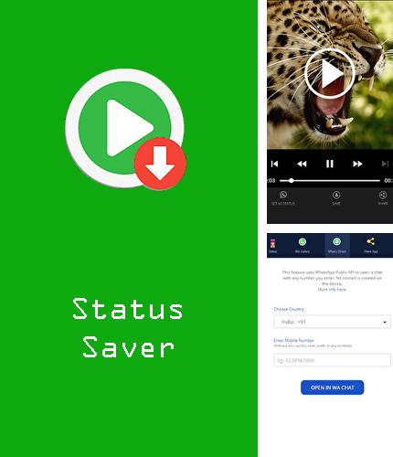 Download Status saver - Whats status video download app for Android phones and tablets.