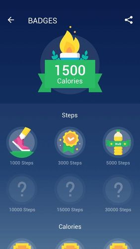 Screenshots of Step counter - Pedometer free & Calorie counter program for Android phone or tablet.