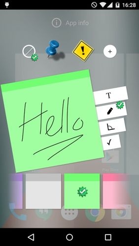 Screenshots of Sticky notes program for Android phone or tablet.