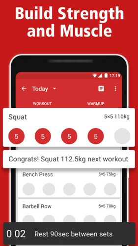 Descargar gratis StrongLifts 5x5: Workout gym log & Personal trainer para Android. Programas para teléfonos y tabletas.