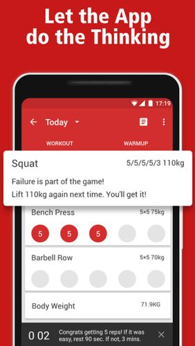 StrongLifts 5x5: Workout gym log & Personal trainer app for Android, download programs for phones and tablets for free.