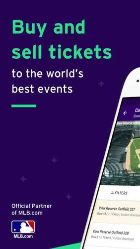Безкоштовно скачати StubHub - Tickets to sports, concerts & events на Андроїд. Програми на телефони та планшети.