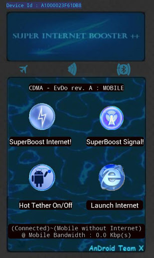 Capturas de tela do programa Super Internet Booster em celular ou tablete Android.