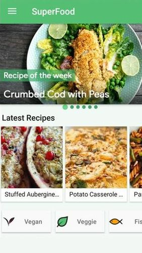 Descargar gratis SuperFood - Healthy Recipes para Android. Programas para teléfonos y tabletas.