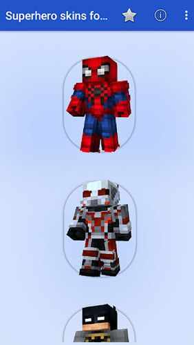 Download Superhero skins for MCPE for Android for free. Apps for phones and tablets.