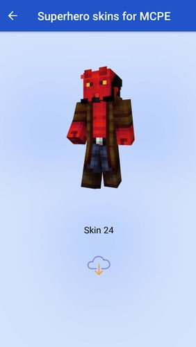 Superhero skins for MCPE app for Android, download programs for phones and tablets for free.