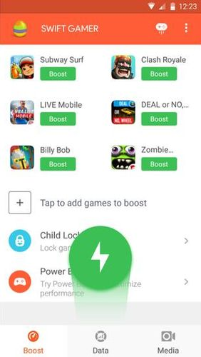 Descargar gratis Swift gamer – Game boost, speed para Android. Programas para teléfonos y tabletas.