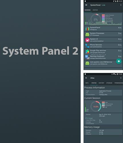 Besides My phone explorer Android program you can download System Panel 2 for Android phone or tablet for free.