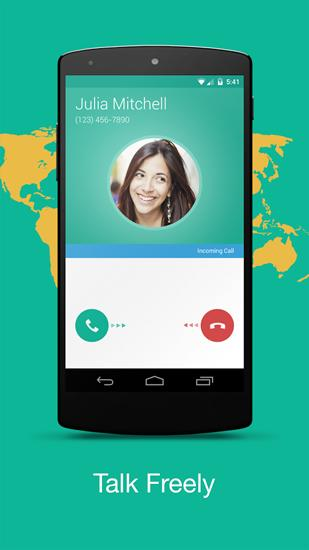 Capturas de tela do programa Talkray em celular ou tablete Android.