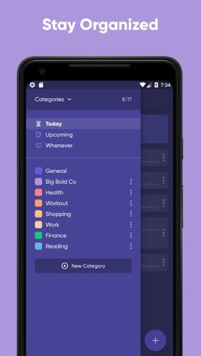 Screenshots of Taskful: The smart to-do list program for Android phone or tablet.