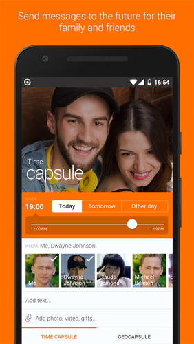 Telecapsule: Time Capsule app for Android, download programs for phones and tablets for free.