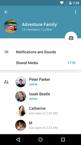 Capturas de tela do programa Telegram em celular ou tablete Android.