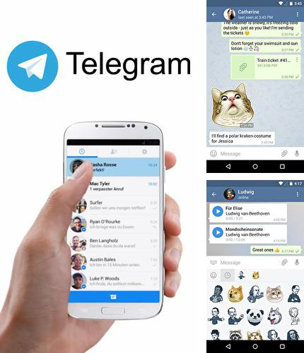 Besides iPhone 5 clock Android program you can download Telegram for Android phone or tablet for free.
