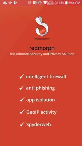 Laden Sie kostenlos Redmorph - The ultimate security and privacy solution für Android Herunter. Programme für Smartphones und Tablets.