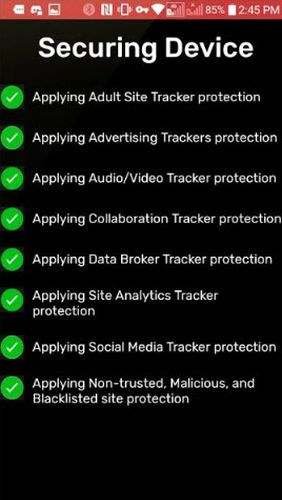 Screenshots of Redmorph - The ultimate security and privacy solution program for Android phone or tablet.