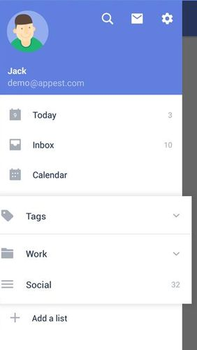 TickTick: To do list with reminder, Day planner的Android应用,下载程序的手机和平板电脑是免费的。