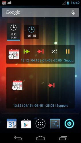 Capturas de tela do programa Time recording - Timesheet app em celular ou tablete Android.