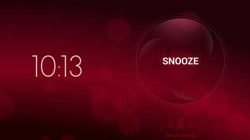 Les captures d'écran du programme Timely alarm clock pour le portable ou la tablette Android.