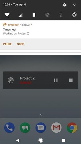 Screenshots of Timesheet - Time Tracker program for Android phone or tablet.