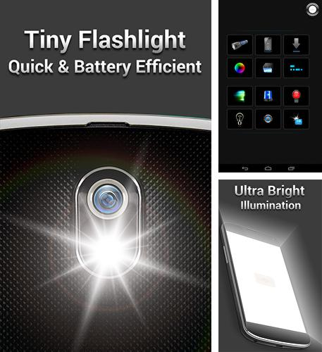 Besides Perfect viewer Android program you can download Tiny flashlight for Android phone or tablet for free.