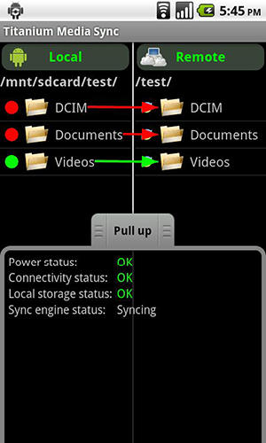 Titanium: Media sync app for Android, download programs for phones and tablets for free.