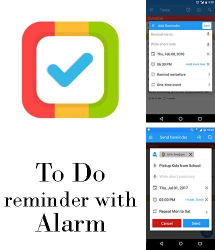 Descargar gratis To do reminder with alarm para Android. Apps para teléfonos y tabletas.