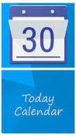 Download Today calendar for Android - best program for phone and tablet.