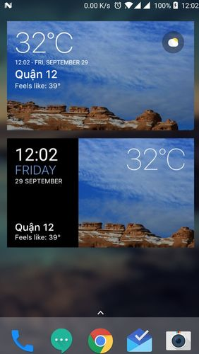 Transparent clock and weather app for Android, download programs for phones and tablets for free.
