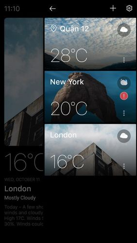 Capturas de pantalla del programa Today weather - Forecast, radar & severe alert para teléfono o tableta Android.