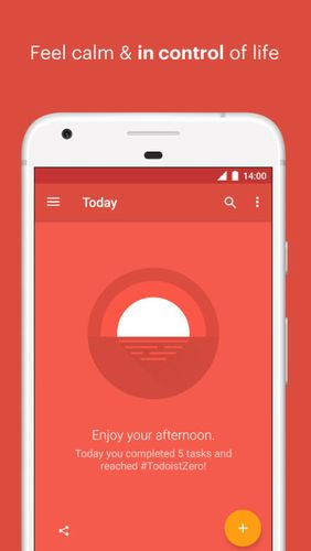 Capturas de pantalla del programa Todoist: To-do lists for task management & errands para teléfono o tableta Android.