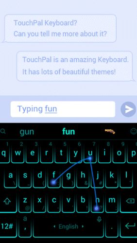 Descargar gratis TouchPal keyboard - Cute emoji, theme, sticker and GIFs para Android. Programas para teléfonos y tabletas.