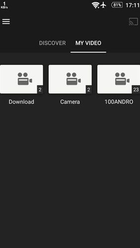 Capturas de pantalla del programa TPlayer - All format video player para teléfono o tableta Android.