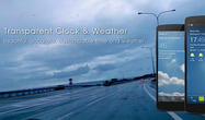 Download Transparent clock and weather for Android - best program for phone and tablet.